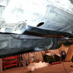 starboard aft subframe connector welded in place