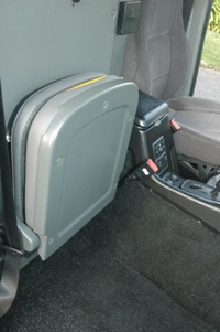 jump seat installed in front luggage storage area